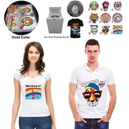 diy t shirt transfer Coupons - Heat Transfer Sticker Vinyl Iron On Patch Custom Design Applique A-Level Badge for DIY T-shirt Clothes Fabric Decoration Printing
