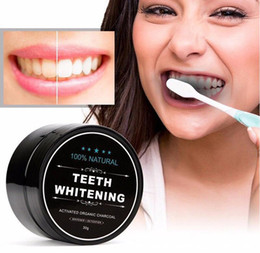 organic tea wholesale Promo Codes - 100% Natural Organic Activated Charcoal Natural Teeth Whitening Powder Remove Smoke Tea Coffee Yellow Stains Bad Breath Oral Care 30g