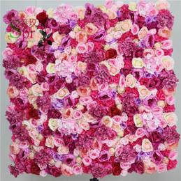 Trasporto libero all'ingrosso magia rosa farfalla fiore muro di nozze sfondo fiore artificiale fila e arco flore decorativi da