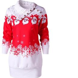 Wholesale Beauty Night Fashion - Fashion Womens Dress Christmas Santa Claus Snowflake Print Plus Size Tunic winter Autumn Casual Beauty Dresses for girls