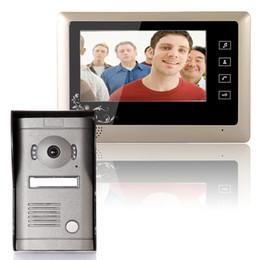 cámara de video sin cables Rebajas Envío gratis 7 '' con cable de video a color de la puerta de video del sistema de intercomunicación timbre de video 1 CMOS Versión Nocturna Cámara + 1 monitor 809MF11