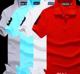 Wholesale Organic Shirts - New Luxury Brand embroidery crocodile t shirts for men Fashion poloshirt shirt men High street Big small Horse mens polo shirt