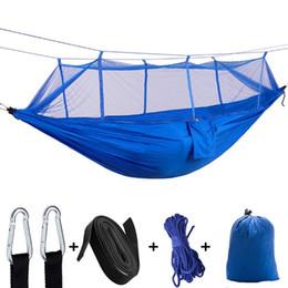 campane amaca swing Sconti Amaca paracadute amaca all'aperto amaca netto 2 persone appeso letto di caccia campeggio hamac altalene da giardino 12 colori opzionale YW1008