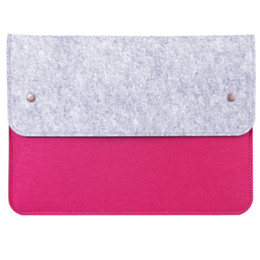 Wholesale Felt Laptop Cover - 13 Inch Ultra Thin Tablet Wool Felt Laptop Sleeve Pouch Case Envelop Cover Carrying Case Protective for Phone Notebook