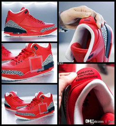 Wholesale dj canvas - 2017 Mens 3 X DJ Khaled Grateful PE Basketball Shoes For Men Fire Red 3s Man Basket Ball Sports Sneakers Size 8-13
