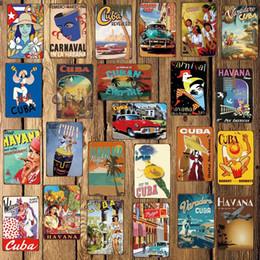 2019 royaume-uni voitures [Mike86] CUBA HAVANA En Métal Signe De Chambre Décor Vintage Mur Plaque Peinture Artisanat Pour Pub Maison 20 * 30 CM FG-220