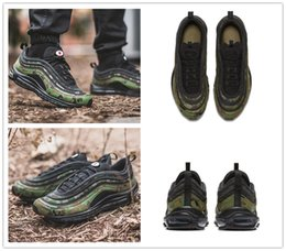 Wholesale Japan Shoes Sale - 2018 Hot Sale Airs 97 Bullet Sports Running Shoes for AAA+ quality Men's 97s Army Field Japan Camouflage Retro Jogging Sneakers Size 39-45