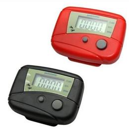 2019 botão contador Dois botões de Bolso LCD Pedômetro Mini Multi-função Pedômetro Passo Contador LCD Run Passo Pedômetro Digital Walking Counter caixa Branca pacote botão contador barato