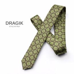 Wholesale Wedding Ties For Men Green - DRAGIK P5005201 classic retro royal 5cm slim flower tie for men green necktie wedding neck tie