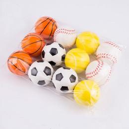 giocattolo di calcio morbido Sconti Soft Foam Ball Wrist Exercise Stress Relief Spremere Tennis Ball / Basket / Calcio Regalo Giocattolo Palle Fitness 6 CM Diametro b842