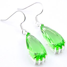 Wholesale Night Earrings - 2018 Direct Selling Limited Cuff Oscar Red Carpet Drop Green Quartz Drop Earrings Angelina Jolie Design Luxury Lady Night Party Jewelry 2pcs