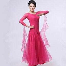 rotes jazzkleid Rabatt Ballroom Dance Kleid Dame rot / Rose / schwarz / Jazz / Tango / Walzer Tanzkleid Wettbewerb / Performance Marine Kostüme für Frauen