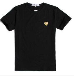 2019 nuove t-shirt d'onda 22 stile estate nuove donne uomini marchio semplice marea Giappone amore ricamo cuore rosso punto d'onda classico manica corta in cotone t-shirt nuove t-shirt d'onda economici