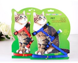 Wholesale Cheap Baby Supplies - H Shaped Nylon Material Pet Cat Leashes Baby Animal Pet Cat Traction Rope Harness High Quality Cat Supplies Collar Leads Rope Suit Cheap