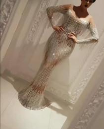 Wholesale Zoe Dresses - Evening dress Yousef aljasmi Mermaid Sweet heart Long sleeve Flower Tassels Floor Long dress Custom Myriam fares Charbel zoe Zuhair murad