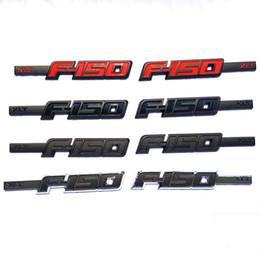 Canada 1 paire / set Ford XLT F150 3D Body Side Emblème Porte Dur Plastique Badge Autocollant ABS Noir Rouge 26 * 4.2 cm Grande Taille Offre