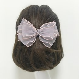 Arcos de pelo para las mujeres al por mayor online-Venta al por mayor - Nueva moda accesorios para el cabello diseño original hecho a mano puro hilado de múltiples capas arco estéreo horquilla para las mujeres de la mujer pinzas para el cabello