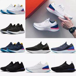 Wholesale increase knitting - 2018 Epic React Men Running Shoes Sneakers knit Sport Trainers Boost Size 5.5-11 AQ0067 AQ0070 women Run Shoe Free Shipping (With Box)