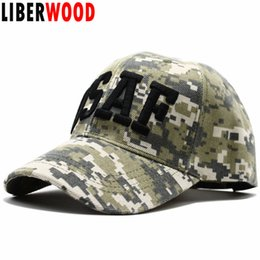 Wholesale united forces - LIBERWOOD Air Force USAF Digital Camo baseball cap Embroidered Men's United States US Army hat cap Tactical Operator Hat 56-62cm