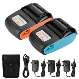 cartes glissières Promotion Imprimante de facture thermique sans fil Bluetooth imprimante de facture thermique 58 mm 110-240 V