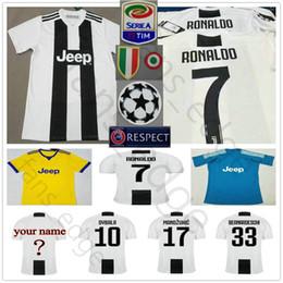 Wholesale kid shorts - RONALDO JUVENTUS Soccer Jersey 2019 RONALDO #7 BUFFON 10 DYBALA 17 MANDZUKIC Custom 18 19 Home Away Men Women Kids Youth Football Shirt