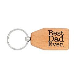 20 unid / lote hecho a mano mejor papá nunca llavero de madera de madera llavero familia papá amor del día del padre encanto regalo de la joyería desde fabricantes