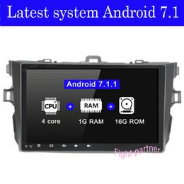 chino pantalla grande tv Rebajas Precio de fábrica: el último dvd de Android 7.1 para toyota corolla 2008 2007 2009 2010 2011 reproductor de gps de radio para automóvil