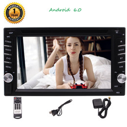2019 trattore digitale universale per auto Android 6.0 Universal Double Car Stereo 6.2 '' HD Digital Touch Screen Car DVD Player GPS Navi SWC Bluetooth Mirror Link trattore digitale universale per auto economici