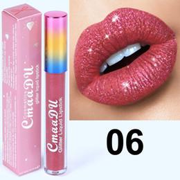Элементы блеска онлайн-Cmaadu 6 цветов алмазный блеск для губ мода косметика пункт блеск жидкий блеск для губ 6 цветов лучшее качество
