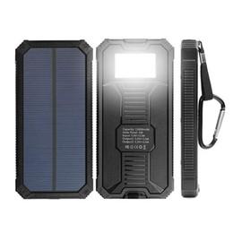 Chargeur de batterie pour téléphone intelligent en Ligne-Chargeur solaire de batterie, chargeur solaire 15000mAh Chargeur solaire portatif de batterie USB double pour le téléphone intelligent d'iPhone