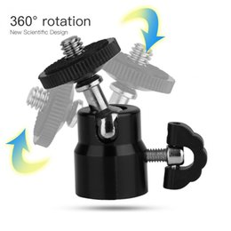 Kopf montiert camcorder kameras online-360-Grad-Drehung Mini-Kugelkopf Kugelkopf 1/4 Schraubenhalterung für DSLR-Kamera-Camcorder
