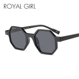 Wholesale Polygon Mirror - ROYAL GIRL Vintage Octagon Sunglasses Women Classic Brand Design Small Frame Polygon High Quality Glasses Eyewear ss886