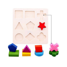 Wholesale Wooden Building Blocks For Children - Creative Toy Bricks Children Souptoys Building Blocks For Kid Gift Wooden Geometry Puzzle Toys 3mg C R