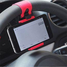 Evrensel Araba Direksiyon Cradle Tutucu Akıllı Klip Araba Bisiklet Dağı Mobil Iphone Samsung Cep Telefonu Için nereden iphone için direksiyon tedarikçiler