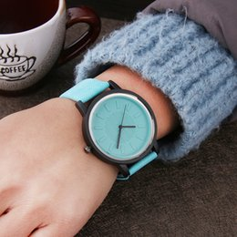 Wholesale Jelly Watches For Women - Wholesale-Harajuku Style Color jelly Fashion Women Watches Hardlex mirror Simple Leather Wrist Watch for Girls Casual Quartz Clock Gifts