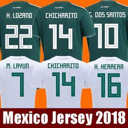 Thailand Camisetas Mexico MEN WOMEN soccer jersey 2018 CHICHARITO LOZANO  MARQUEZ DOS SANTOS GUARDADO girls football shirt camisa de futbol girls  jersey ... 4ffa354bcb4cb