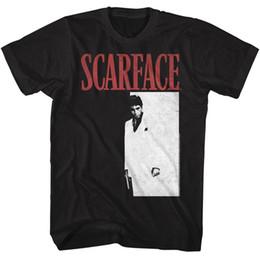 UFFICIALE UOMO Scarface Movie T-SHIRT AL PACINO Meng Black Cotton SM - 5XL da