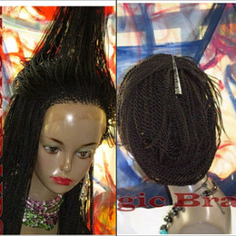 Wholesale Braiding Braid Hairstyles - STOCK Senegalses Twist Lace Front Braid Synthetic Wig For Black Women Crochet Braiding Hairstyles synthetic lace front Wig with baby hair