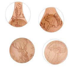 2020 colher de animais de madeira Eco-friendly visual touch animal de madeira de madeira de faia cozinha café colheres de medição de cozimento colher de utensílio 4pcs, 1 / 4tsp, 1 / 2tsp, 1tsp, 1tbs colher de animais de madeira barato