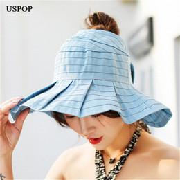 de2da286a1a Discount men sun shade hat - 2018 Newest woman sun hats wide wave brim  foldable female