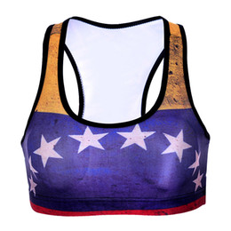 star bras Coupons - Lady Sports Bra Star 3D Graphic Full Print Yoga Gym Fitness Runner Running Sportwear Digital Bras Push Up Crop Tops Tank Vest (RLSsb-0048)