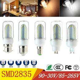2019 lampadine a buon mercato a buon mercato all'ingrosso SMD2835 ha condotto le lampadine 9-30V 85-265V 84 leds bulbi di mais E27 E14 B22 GU10 G9 ha condotto le luci 360 gradi di illuminazione