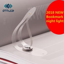 Wholesale wholesale novelty bookmarks - Novelty Bookmark Light Folding Book Lamp Creative Portable Mini LED Night Light Luminaria Eye Care Reading Clip Book