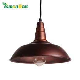 Wholesale tom dixon lampshade - Vintage Pendant Lights Loft Pendant Lamp Retro Hanging Lamp Lampshade For Restaurant  Bar Coffee Shop Home Lighting Luminarias