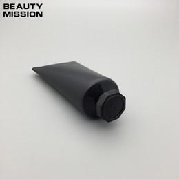schwarze kosmetikrohre Rabatt 50 teile / los 50 ML schwarz Leere Weiche Tube Kosmetische Creme Lotion Shampoo Container Gesichtsreiniger Unguent Container Rohr Squeeze