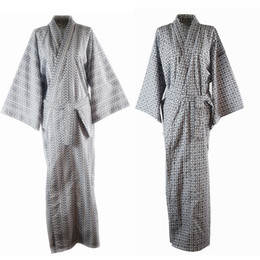 104b597017 Traditional Japanese Male Cool Kimono Bathrobes Men s Cotton Robe Yukata Men  Bath Robe Kimono Sleepwear with Belt 72104