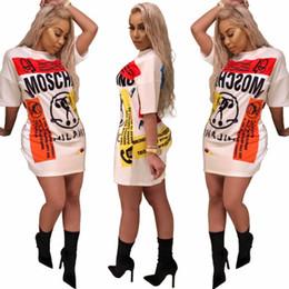 a608c34a76d3 vestito maxi dalla maglietta lunga della manica Sconti 2018 New Fashion  Stampato Cartoon Donne T-