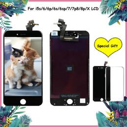 Toque de 5s on-line-NOVA QUALIDADE Atualizada Para iphone 5 / 5s / 5c 6 6 mais 6 s 6 s além de 7 7 p 8 8 plus display lcd tela de toque digitador da tela com quadro de substituição