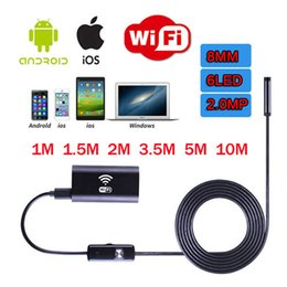 Wholesale usb hd pinhole camera - WIFI Endoscope 8mm USB Camera Borescope Inspection Endoskop 2m 3.5m 5m 10m HD Snake Camera Endoscopic For Android Windows IOS