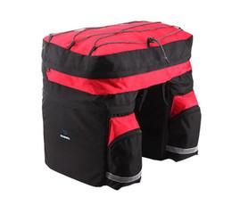 Велосипедные багажные сумки онлайн-ROSWHEEL 60L 3 in1 Waterproof Mountain Road Bicycle bike bags bicycle bag Double Side Rear Rack Tail Seat Trunk Bag Pannier